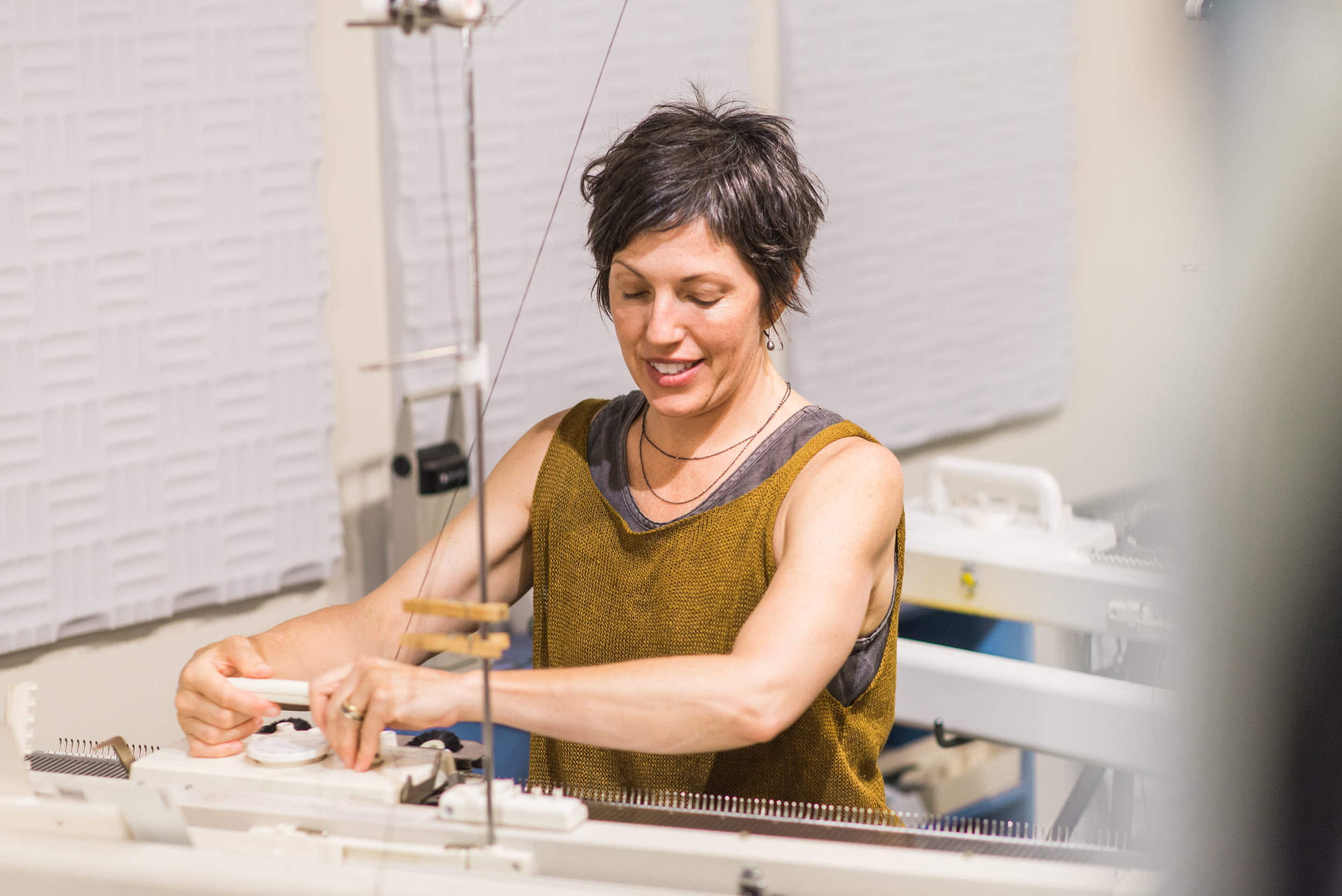 Knitting Machine, Business Branding Photography for Cara May Knits by Sarah Hooker Photography