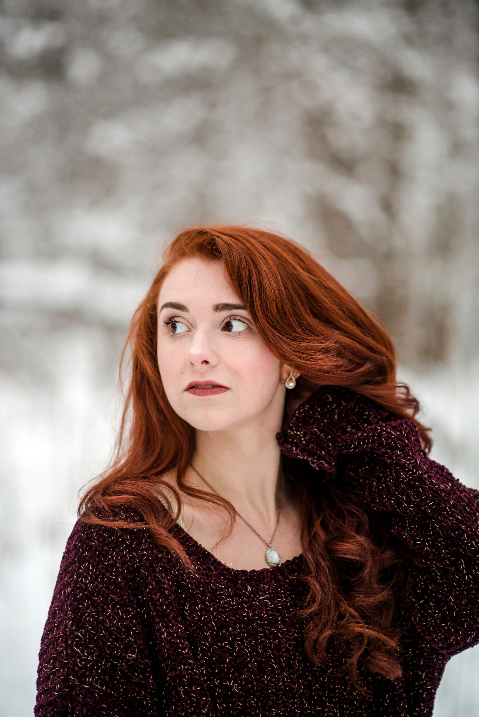 Winter Snow Portrait by Sarah Hooker Photography