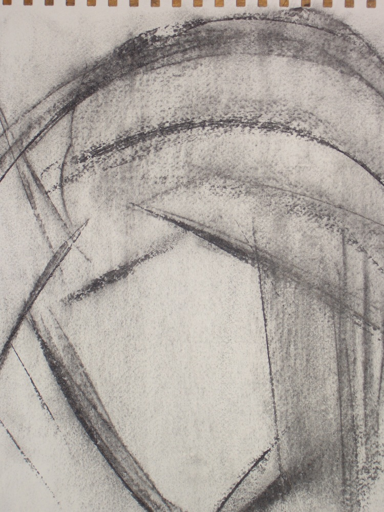 Warrior in a Helmet I £490 51cm x 54cm Charcoal on Paper