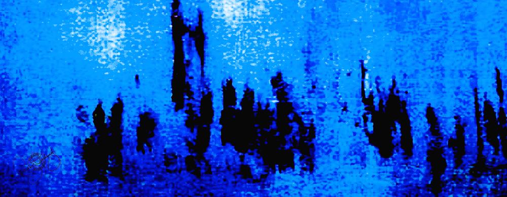 'PARLIAMENT DAWN', ELECTRIC BLUE, VELVET, 180X65CM