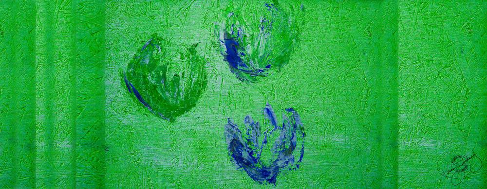'FLOATING TULIPS', EMERALD GREEN, VELVET, 180X65CM