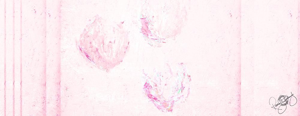 'FLOATING TULIPS', GENTLE PINK, VELVET, 180X65CM
