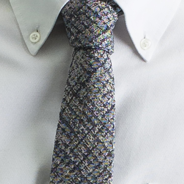 Rosemary Goodenough Man Woven Wool/Silk Tie 'Flightcheck'