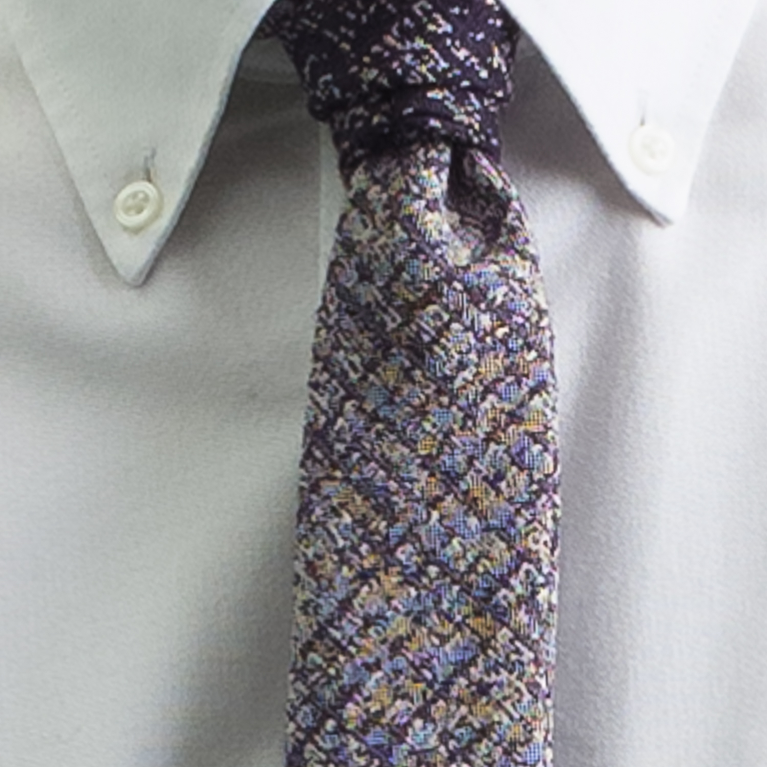 Rosemary Goodenough Man Woven Wool/Silk Tie 'Flyer's Moon'