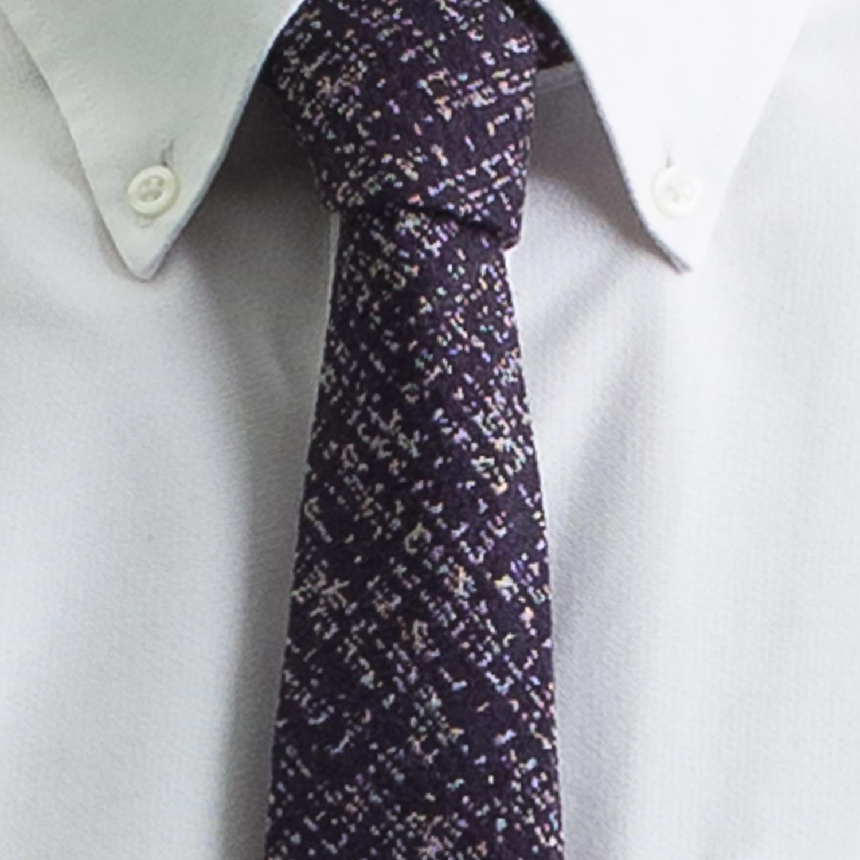 Rosemary Goodenough Man Woven Wool/Silk Tie 'Pathfinder'