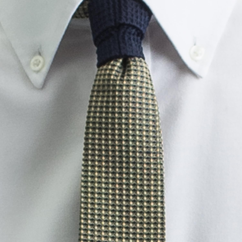 Rosemary Goodenough Man Woven Silk Tie 'Yellow Fever'