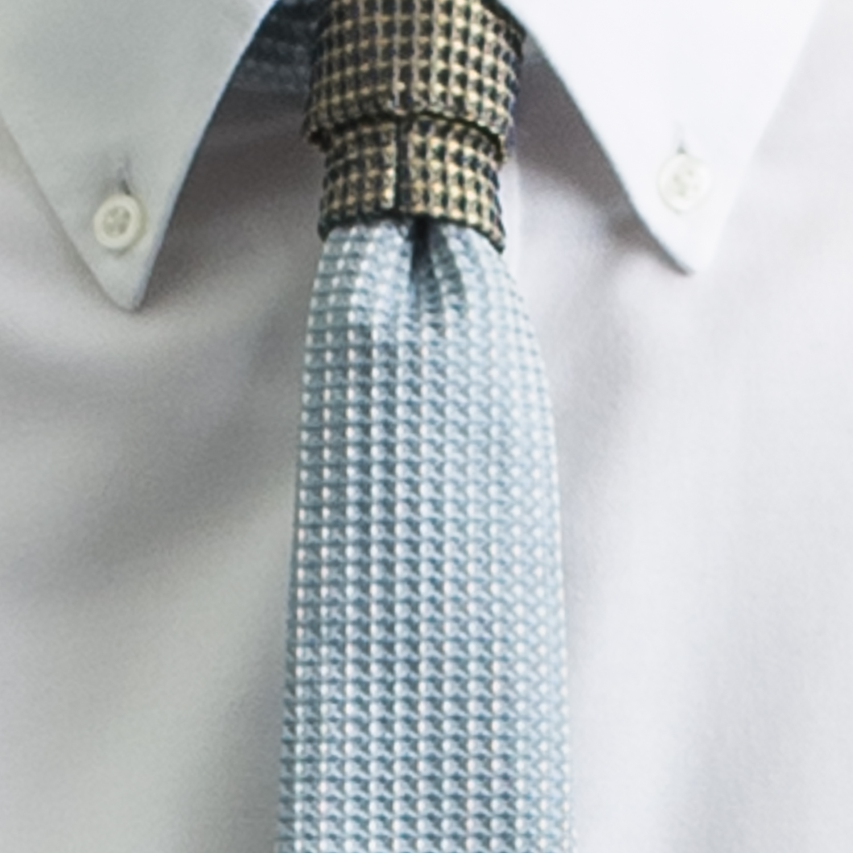 Rosemary Goodenough Man Woven Silk Tie 'Blue Heaven'