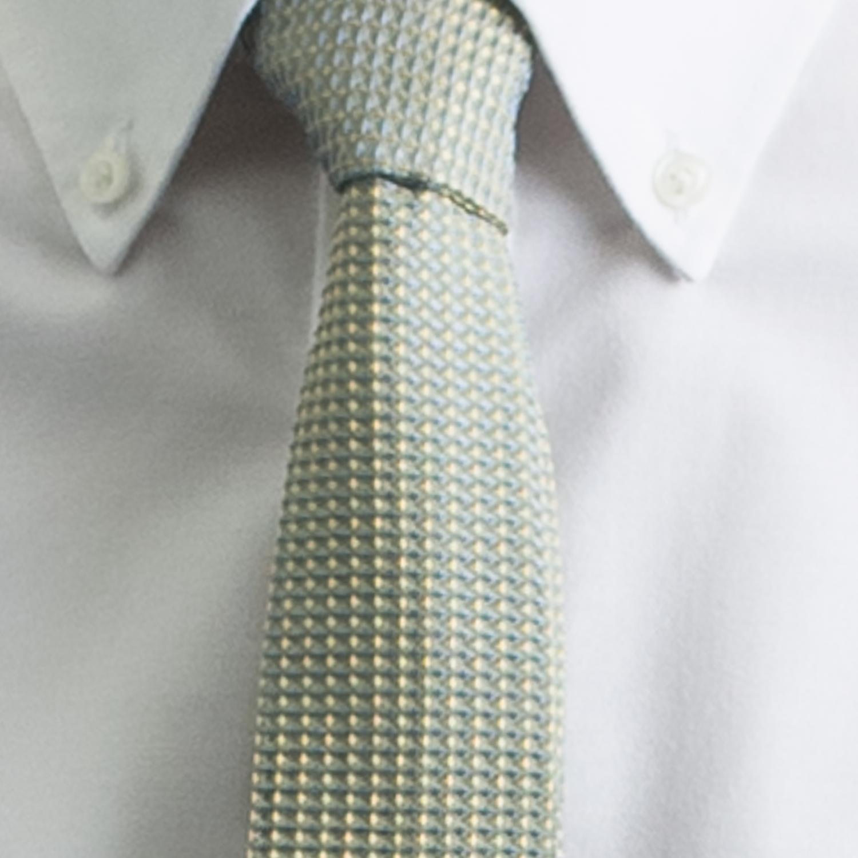 Rosemary Goodenough Man Woven Silk Tie 'Yellow River'
