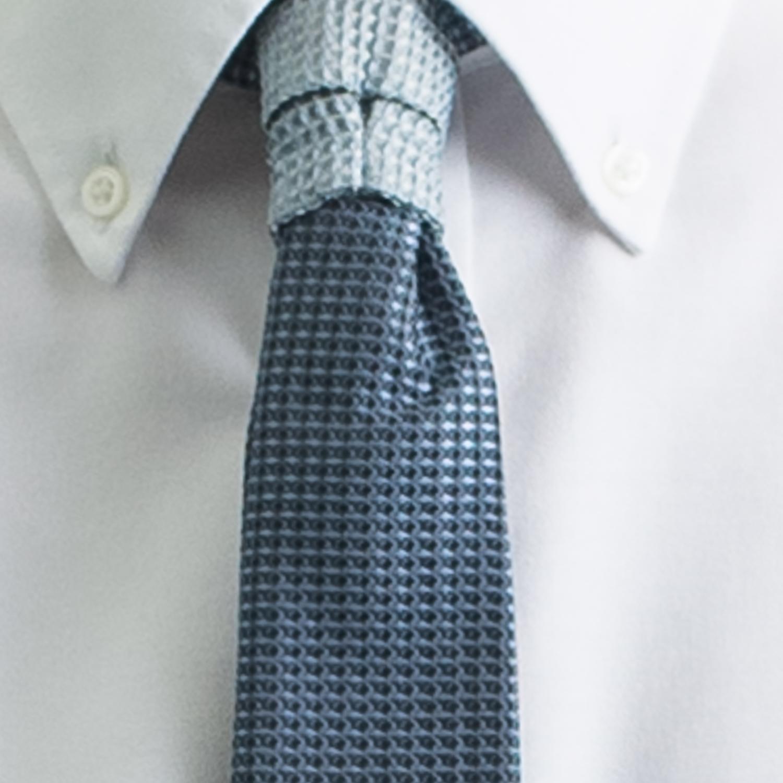 Rosemary Goodenough Man Woven Silk Tie 'Blue Yonder'