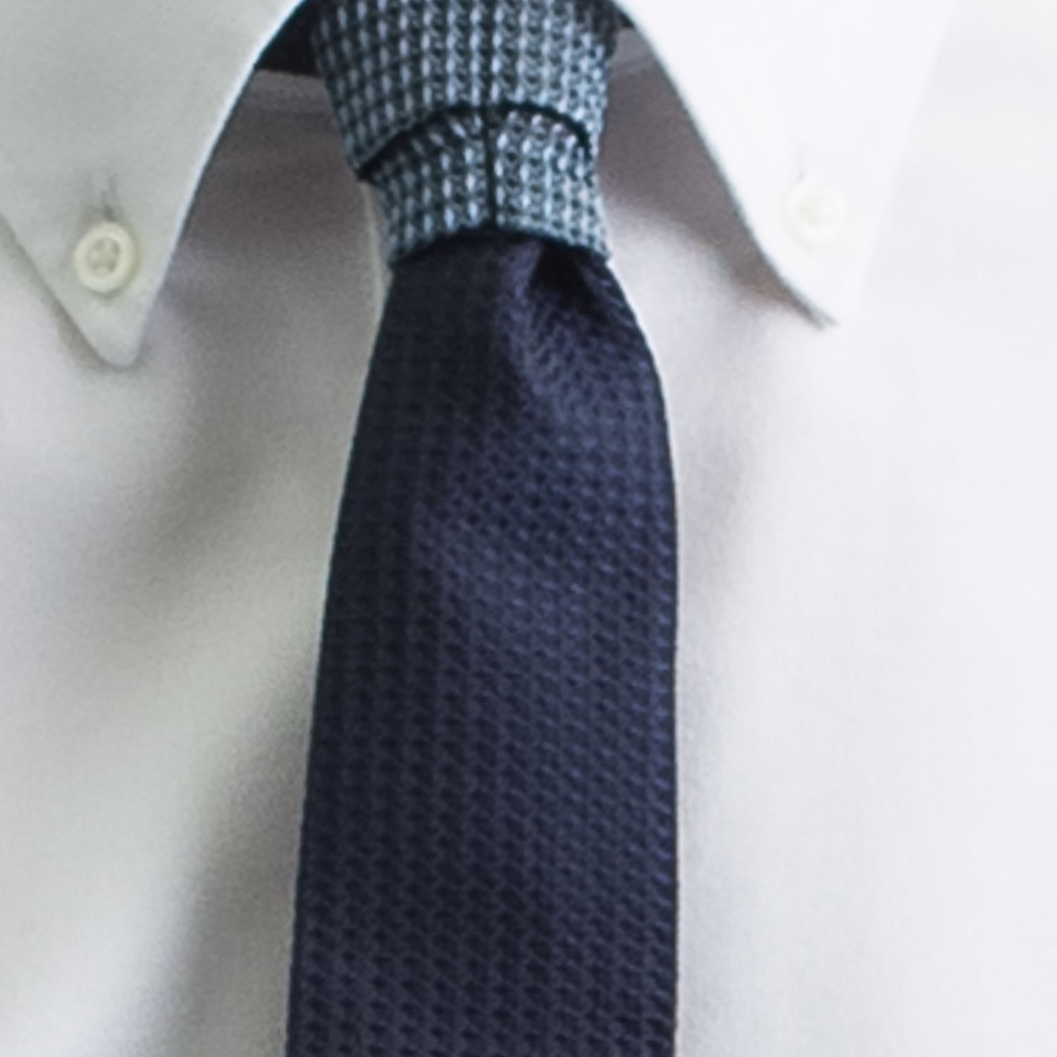 Rosemary Goodenough Man Woven Silk Tie 'Blue Moon'