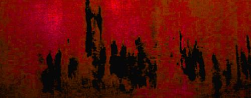'PARLIAMENT DAWN' GORGEOUS RED, VELVET, 180X65CM
