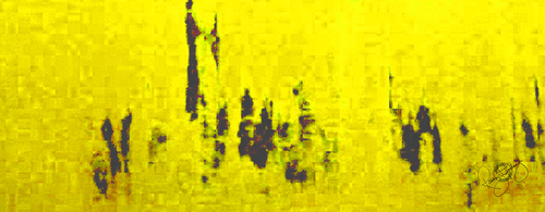 'PARLIAMENT DAWN' LIME YELLOW, VELVET, 180X65CM
