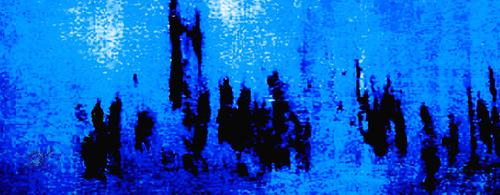 'PARLIAMENT DAWN' ELECTRIC BLUE, VELVET, 180X65CM