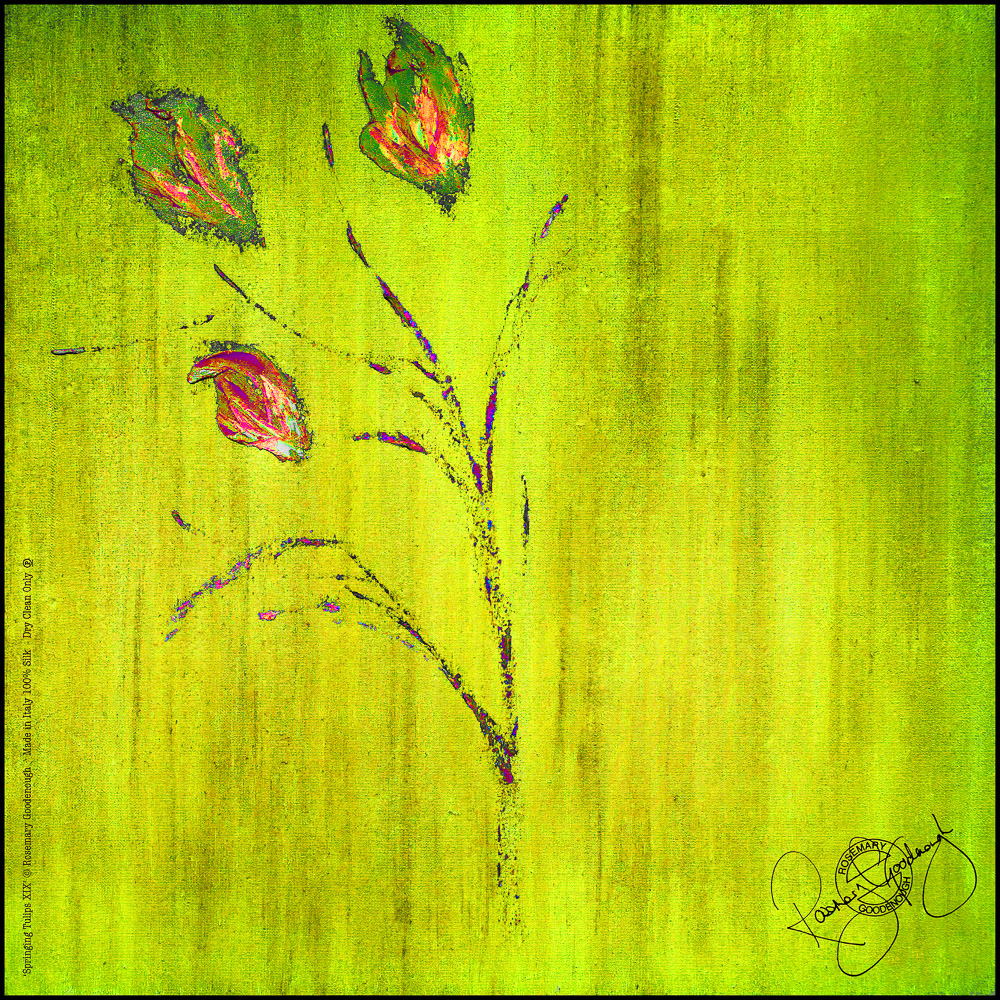 'Springing Tulips XIX' (open) Rosemary Goodenough Silk Twill Scarf Design.jpg