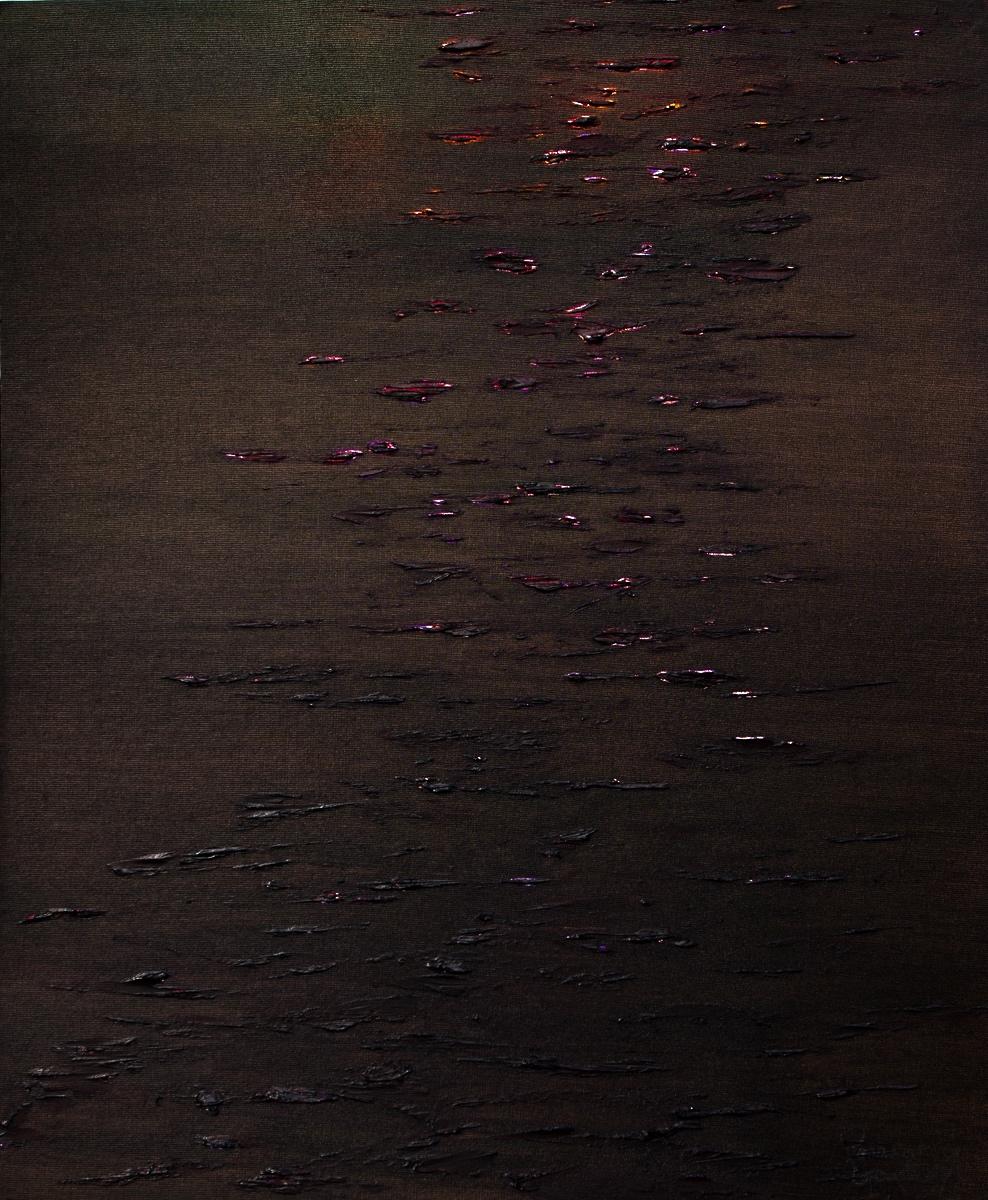 WATERLILIES SUNSET- Oil on Board 76cm x 88cm Framed £6,000 SOLD