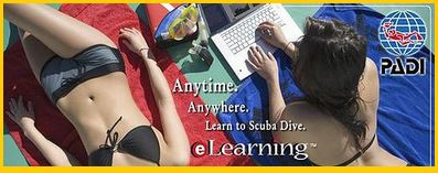Click here to go to PADI eLearning
