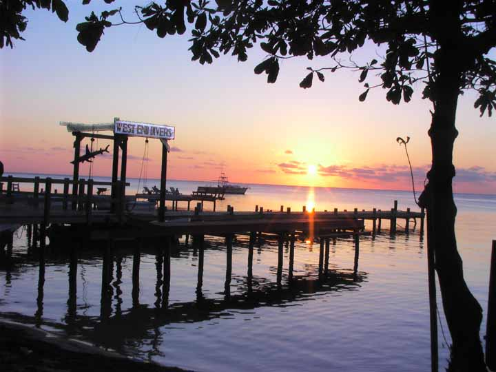 Dock at Sunset, Roatan
