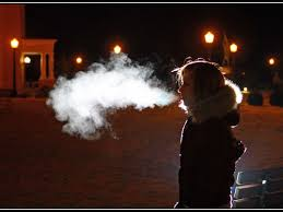 Exhaled moisture in extreme cold