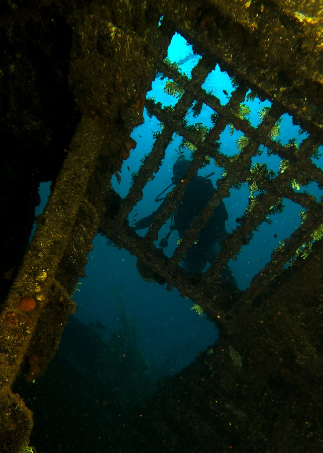 While on the wreck