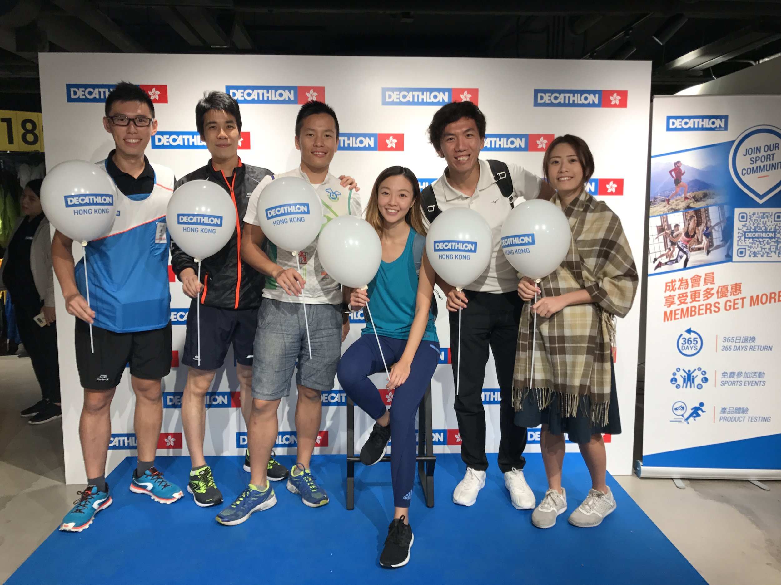 Decathlon Sports Lovers Day - 剛過去的週日為法國品牌Decathlon香港旗艦店開張前的Sports lovers day,Lily教練、文教練以及幾位同學參與其中,試驗唔同運動產品,包括滑板,遠足,瑜伽,拳擊等等。Decathlon過去以超便宜及不錯的產品質素為賣點,加上超多種運動項目,並提供網購、免費送貨以及365日產品退換等配套,相信以佢哋嘅服務和產品,肯定會為各運動品牌帶來衝擊。