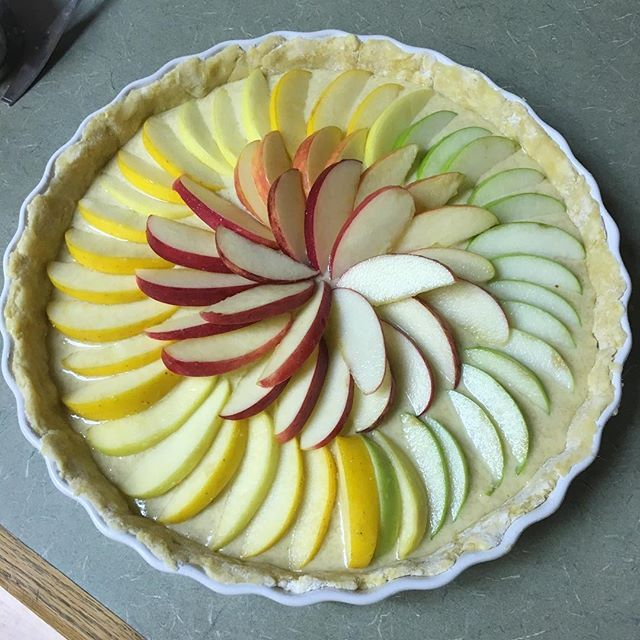 Just put it in the oven... nail biting apple tart