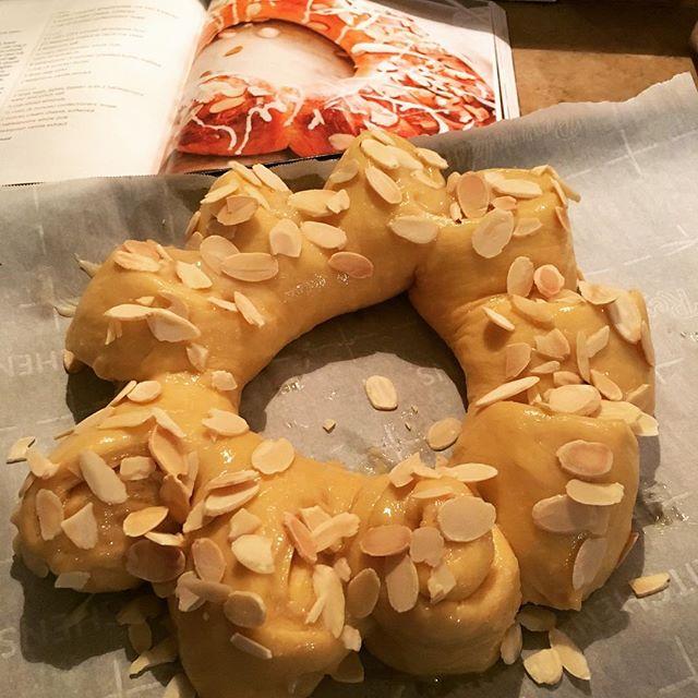 Aspiring almond coffee cake bake