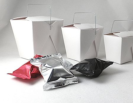 range of white takeaway boxes