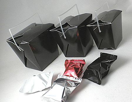 range of black takeaway boxes
