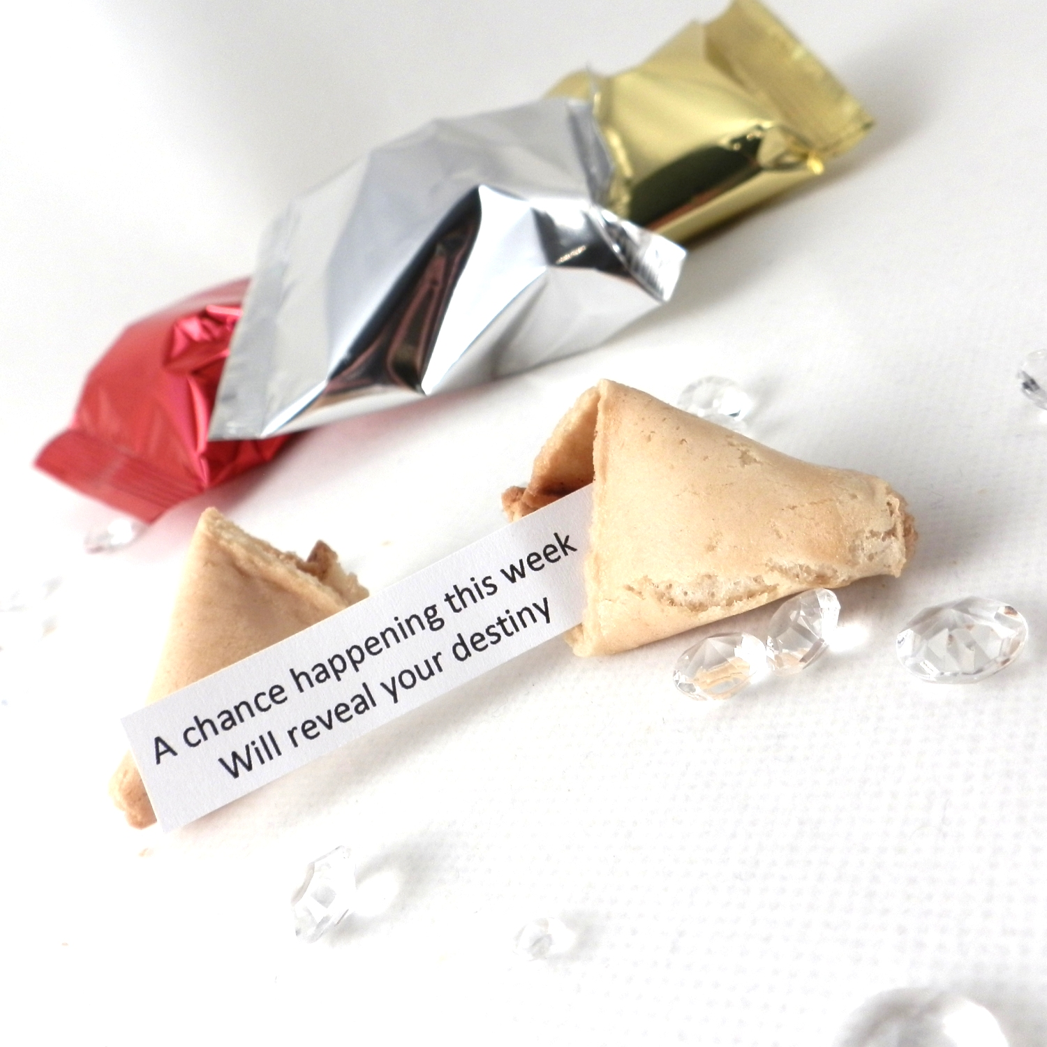wedding fortune cookies with traditional fortunes