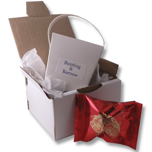 fortune cookies mailing campaign with takeaway boxes