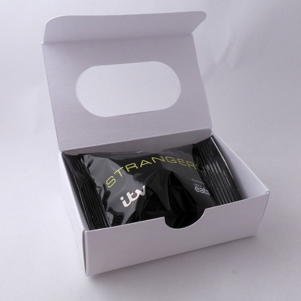 promotional fortune cookies - window presentation boxes - white