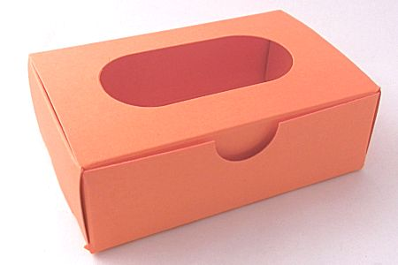 individual fortune cookie boxes with window - orange