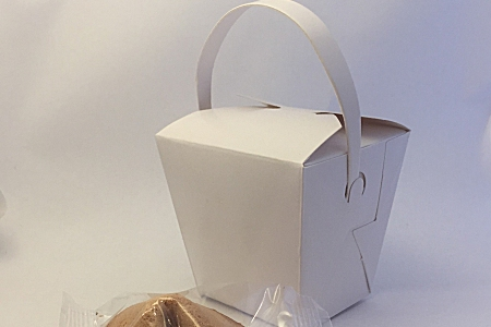 triangular individual fortune cookie presentation boxes