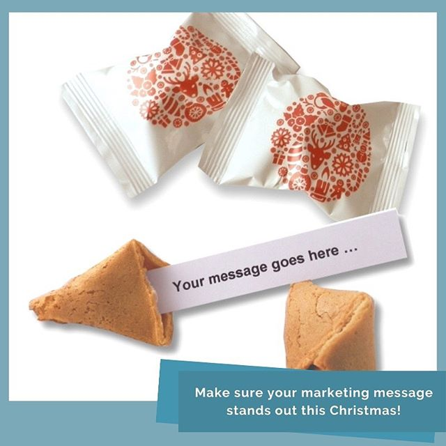 Looking for a unique Christmas promotion? Try our Christmas fortune cookies ... #creativemarketing #brandpromotion #marketingideas #experientialmarketing #eventpromotion