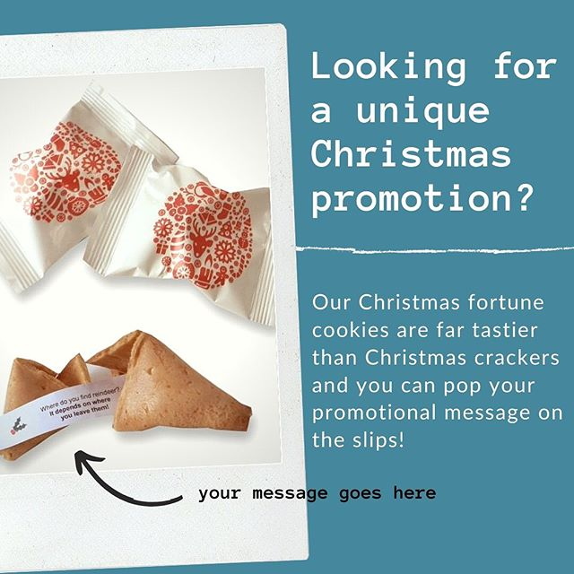 Our personalised fortune cookies will ensure your marketing message stands out this Christmas ... #creativemarketing #brandpromotion #marketingideas #experientialmarketing #eventpromotion