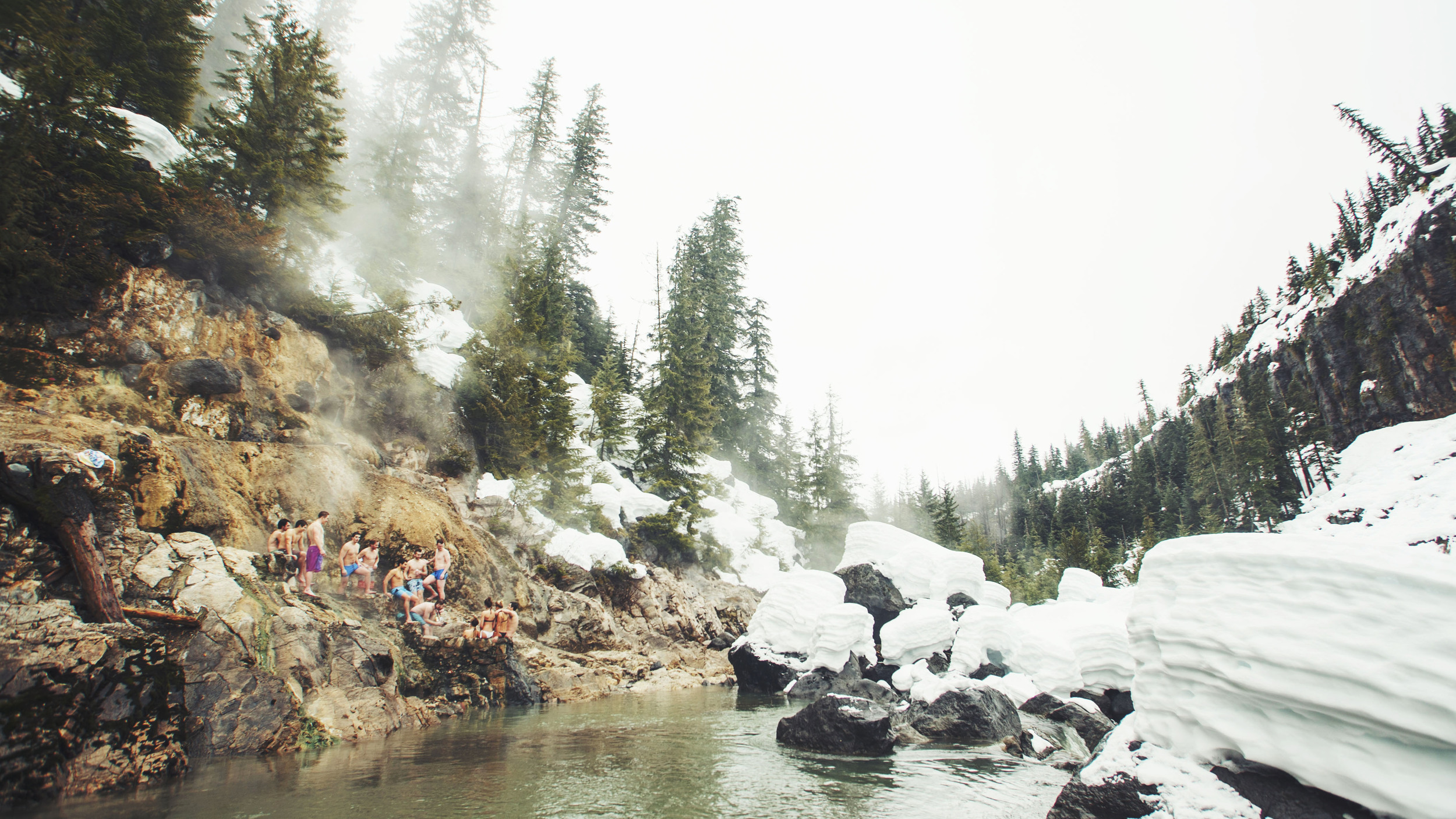 Key-hole hot springs with some of the Whistler crew