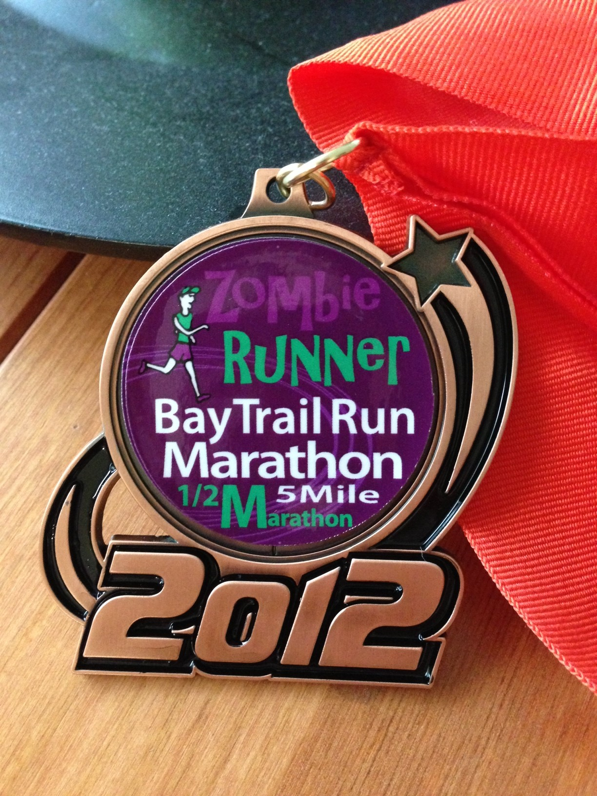 ZombieRunner Bay Trail 5-mile Race Medal