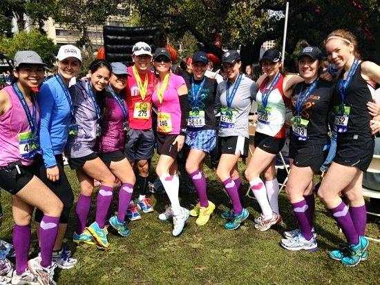 Oakland Half Marathon with my  Bay Area Running Friends (BARF's)