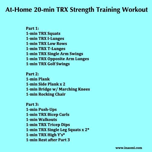 20-min TRX At-Home Workout