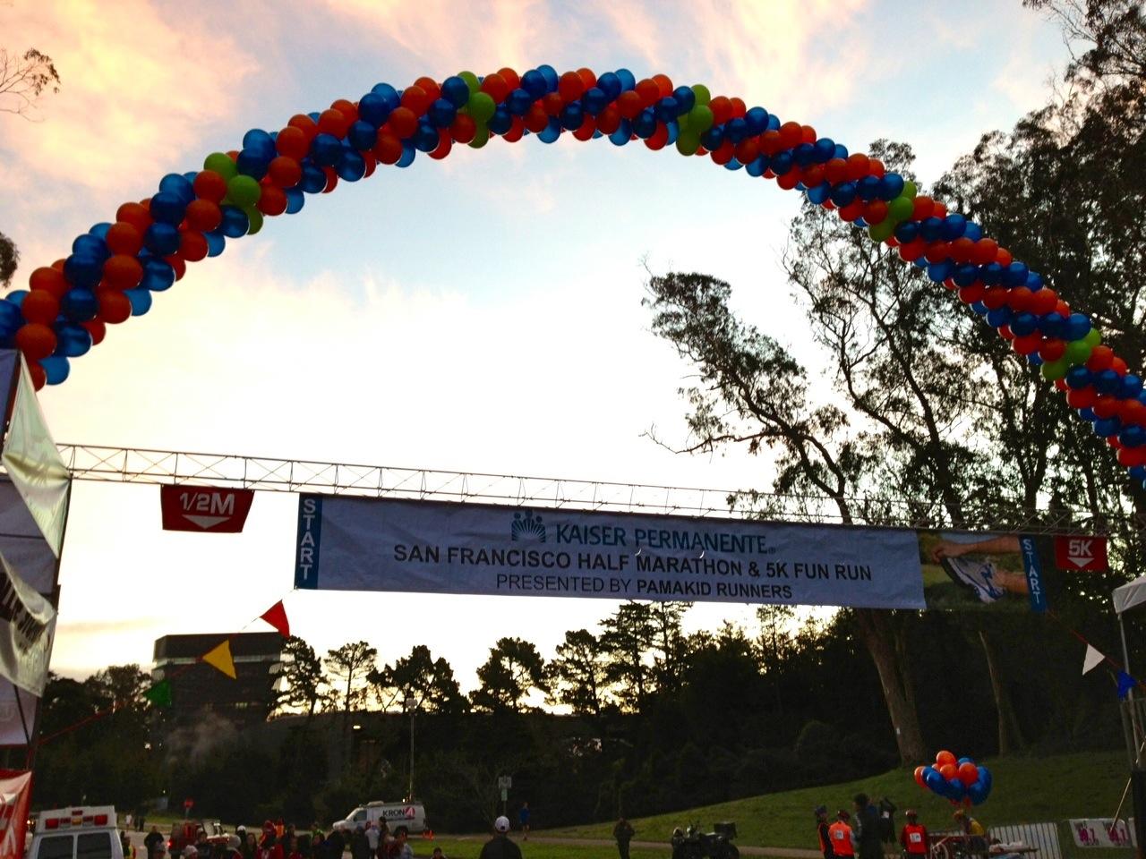 Kaiser Half-Marathon Start Line