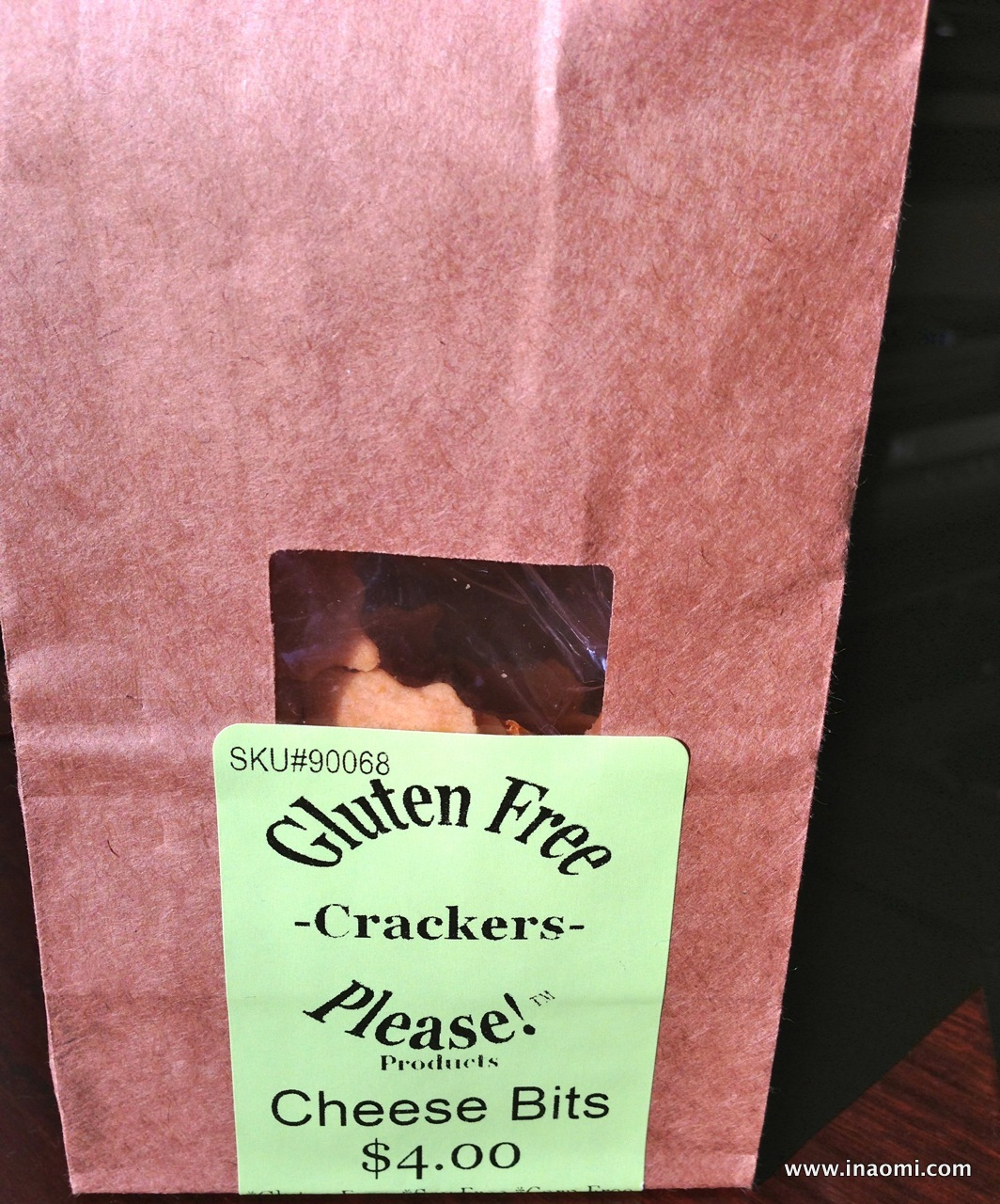 Gluten Free Please Bakery's cheese crackers