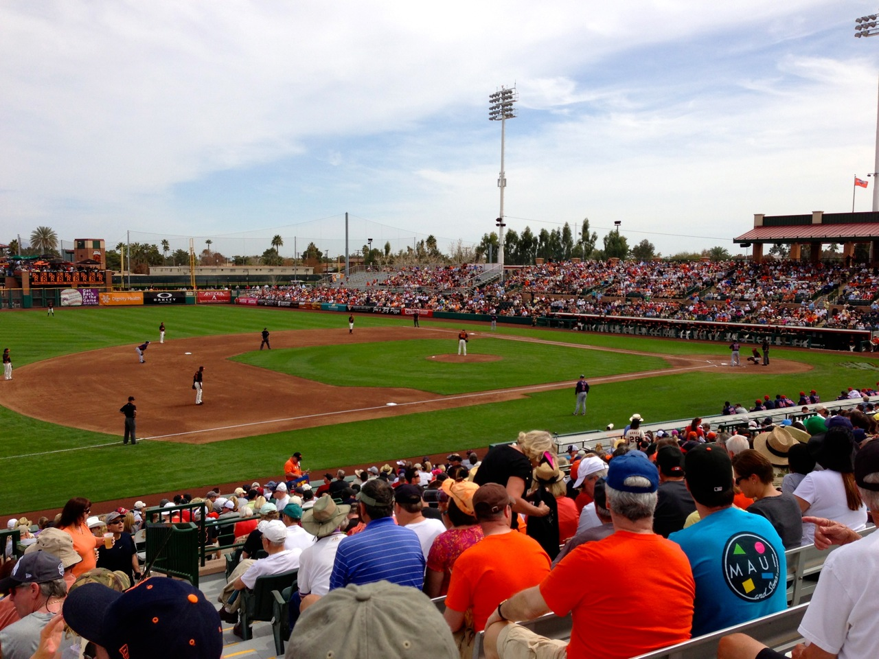 The view at Scottsdale Stadium from Section 315.