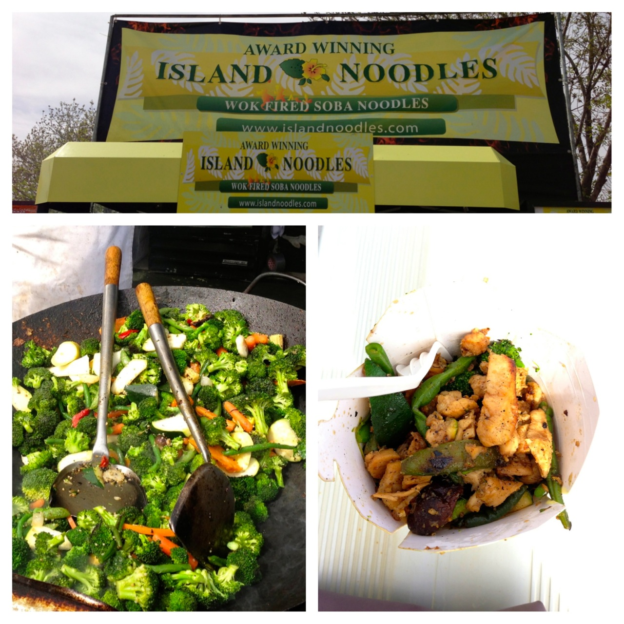 Island Noodles Teriyaki Chicken and Vegetables
