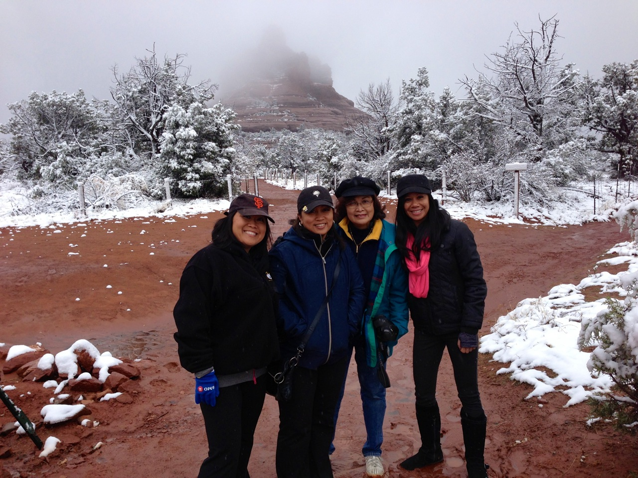At foggy Bell Rock