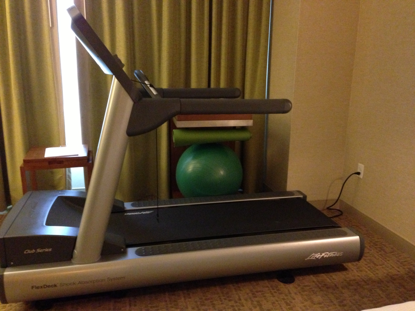 A treadmill in my hotel room!