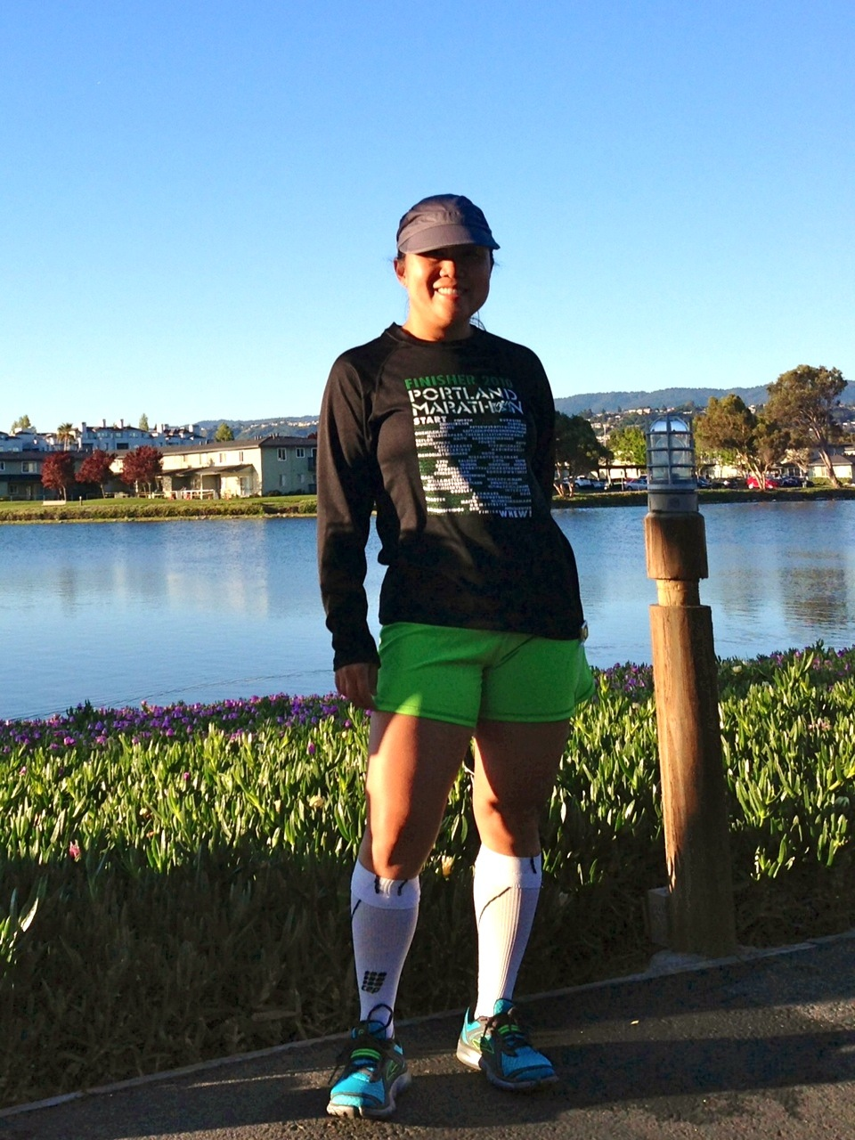 Wearing the race shirt of my favorite marathon that I've run (so far!).