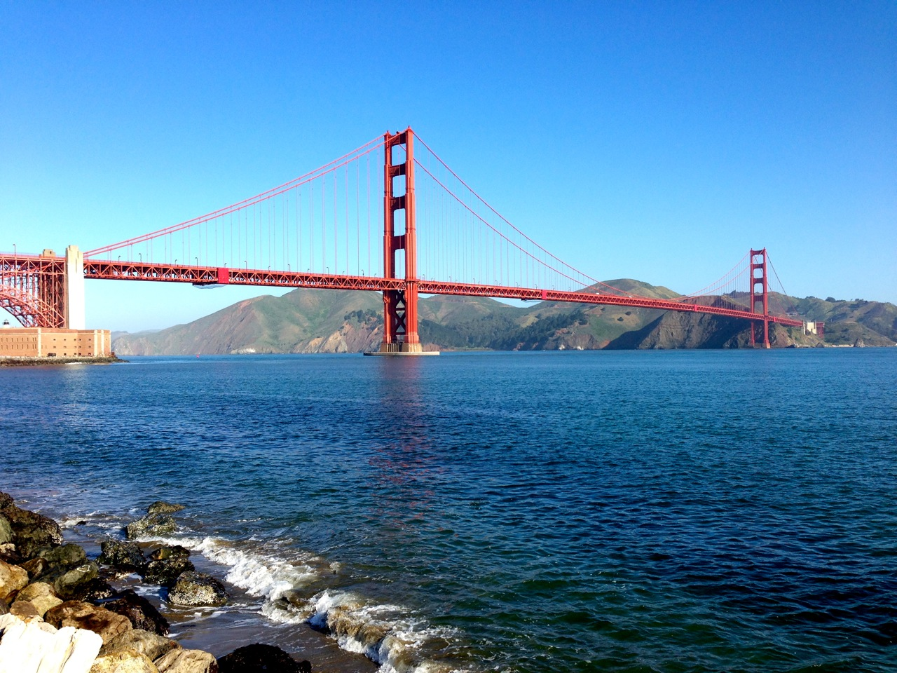 View of the Golden Gate Bridge from Crissy Field