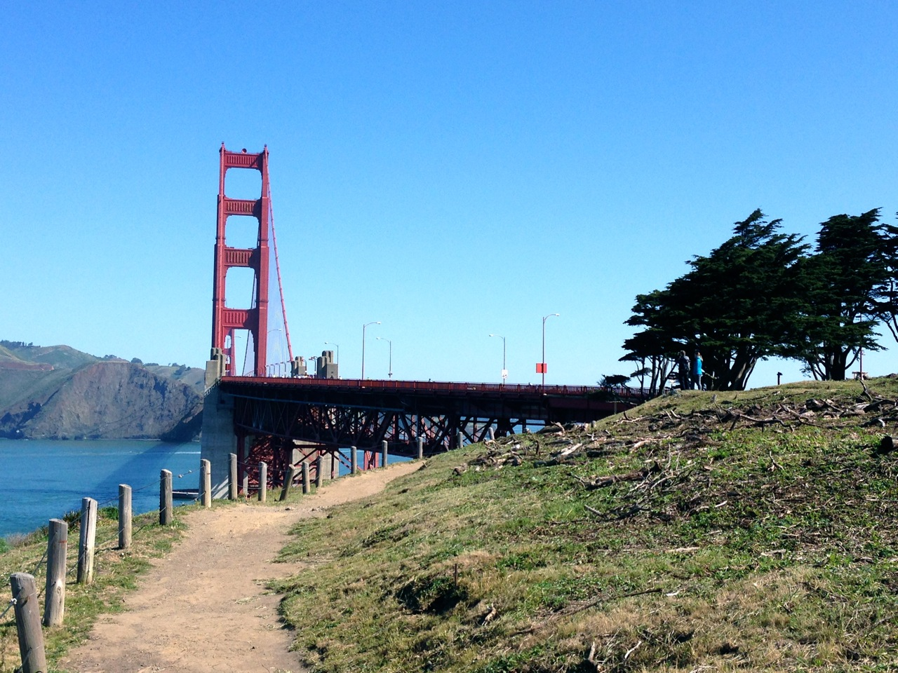 Trail on the west side of the GGB