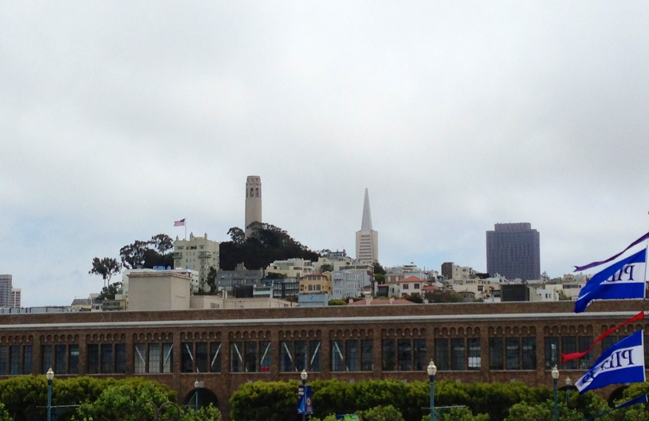 View of Coit Tower and the Transamerica Building