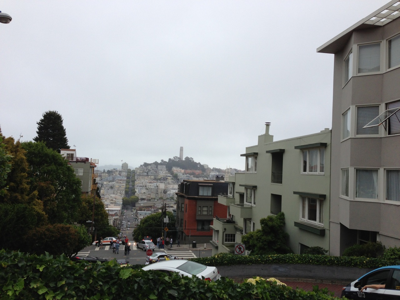 Heading down Lombard St.